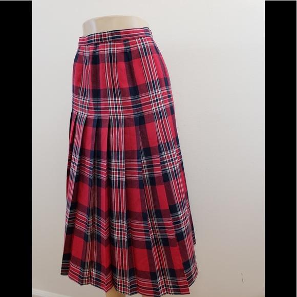 05bf9e1596 Pendleton Skirts | Vintage Plaid Pleated Skirt | Poshmark